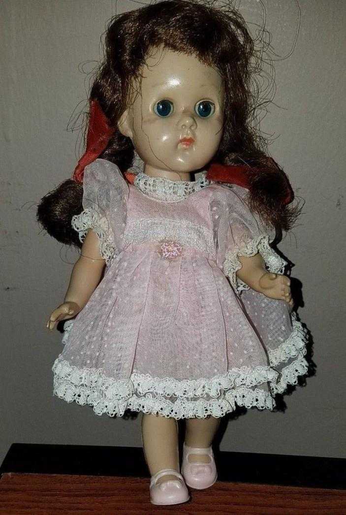 Vintage 1950's Ginny Bent Knee Walker Doll in Tagged Outfit