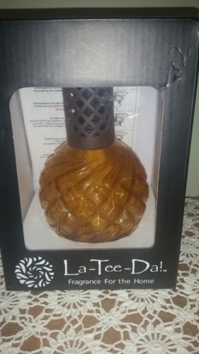 La Tee Da! Amber Glass Effusion Fragrance Lamp