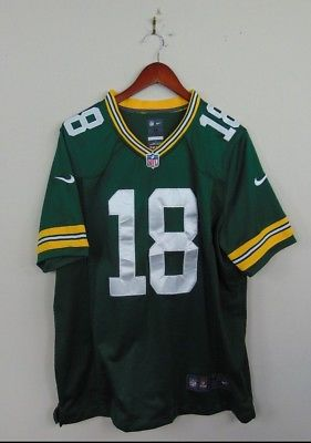 Nike Mens M Green Bay Packers #18 Randall Cobb Sewn Jersey Football On Field NFL