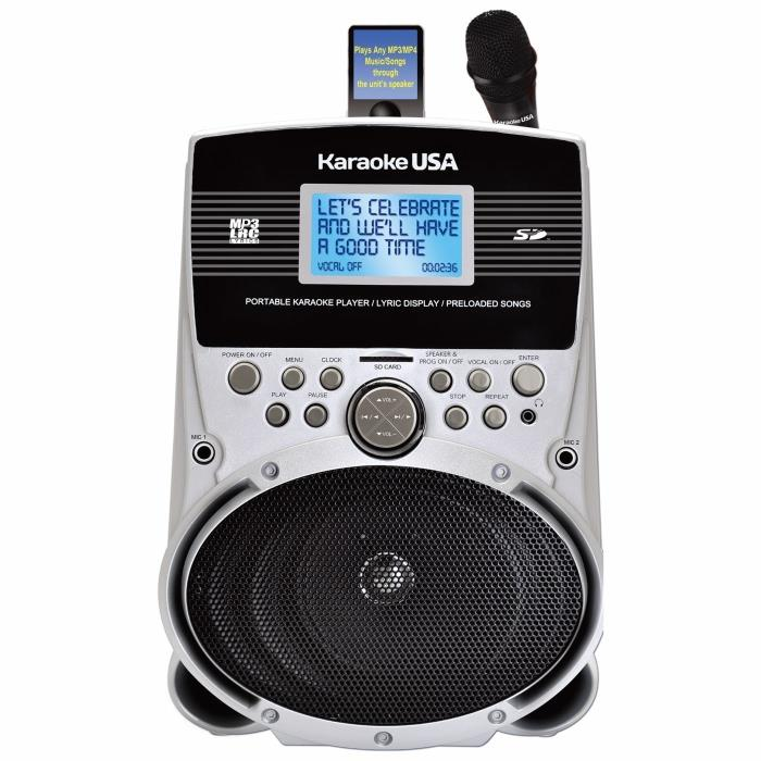 Karaoke USA SD516 Portable Karaoke Machine w/ 3.2