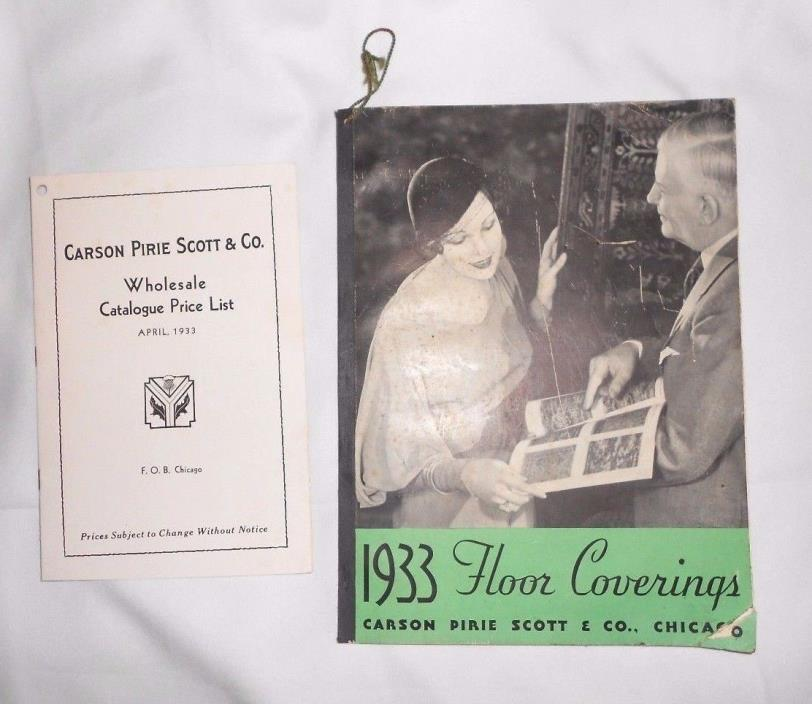 Vtg 1933 Carson Pirie Scott Chicago Wholesale Catalog Floor Coverings price list
