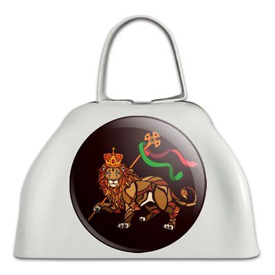 Lion of Judah Bible  White Metal Cowbell Cow Bell Instrument