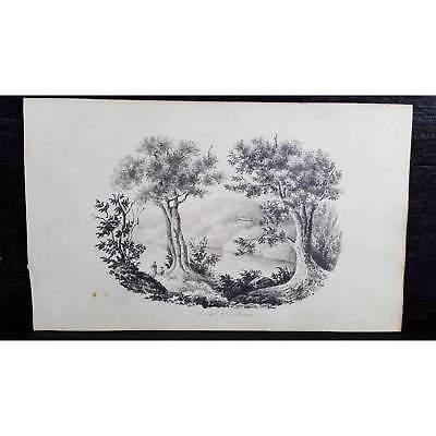 Antique Original British Pencil Drawing, circa 1823, #3 of 8 -