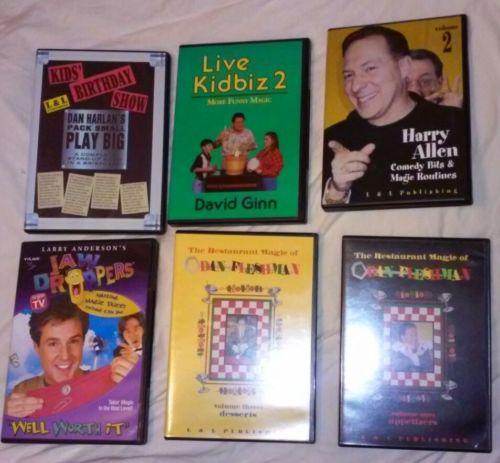 6 MAGIC DVD LOT RESTAURANT COMEDY CHILDRENS BDAY DAVID GINN DAN HARLAN FLESHMAN