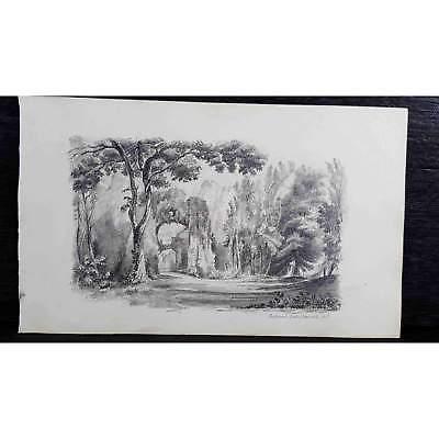 Antique Original British Pencil Drawing, circa 1823, #2 of 8 -