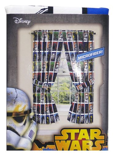 Star Wars Classic Character Window Curtains Drapes, Set of 2