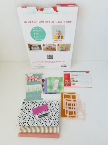 Crafternoon DIY House Pillow Craft Kit Kids Sewing Project Pink Mint