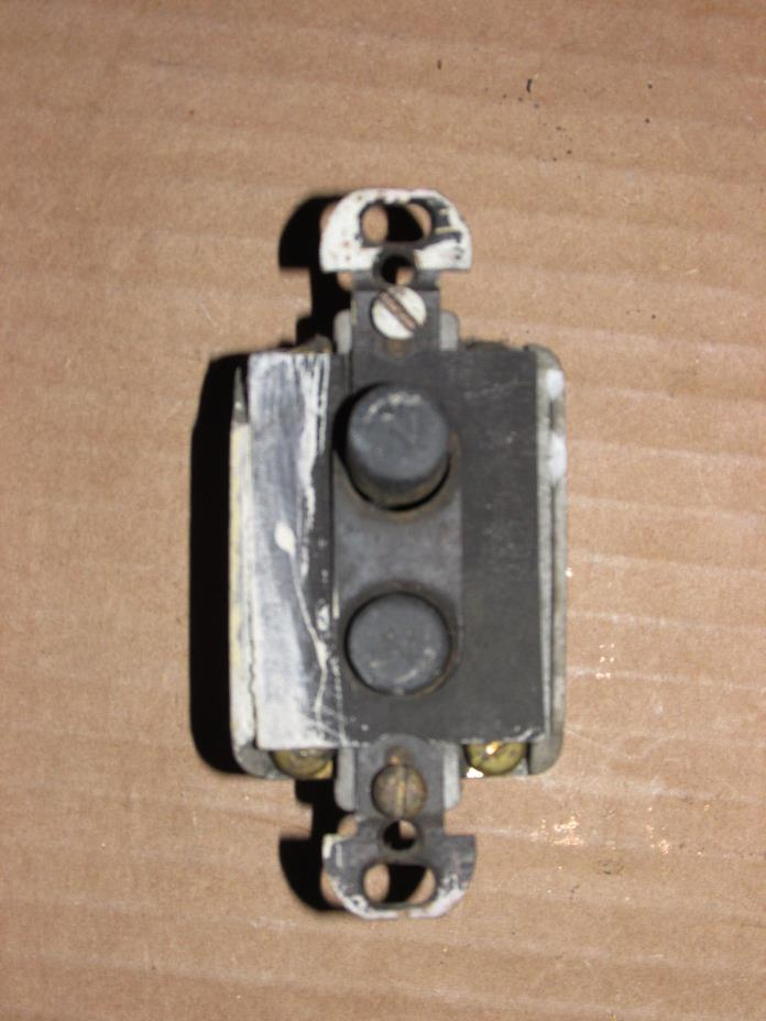Antique Push Button Switch 4-Way Salvaged AS IS