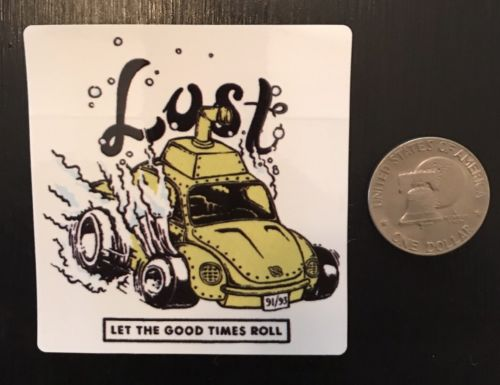 Lost Enterprises Surf Skate Decal Sticker Authentic