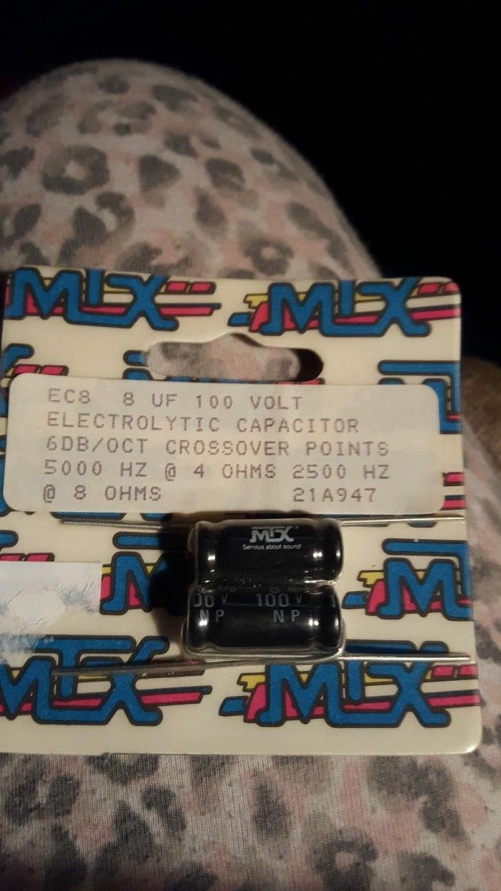 MTX 21A947 8 UF 100 Volt Electrolytic Capacitor 6 DB/OCT Crossover Points 5000 H