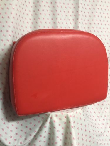 Red Childs Haircut Booster Seat Faux Leather