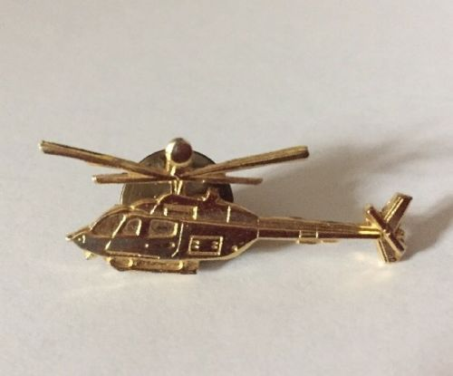 Lapel Pin Tie Tac Bell Helicopter Textron Goldtone Helicopter Vintage