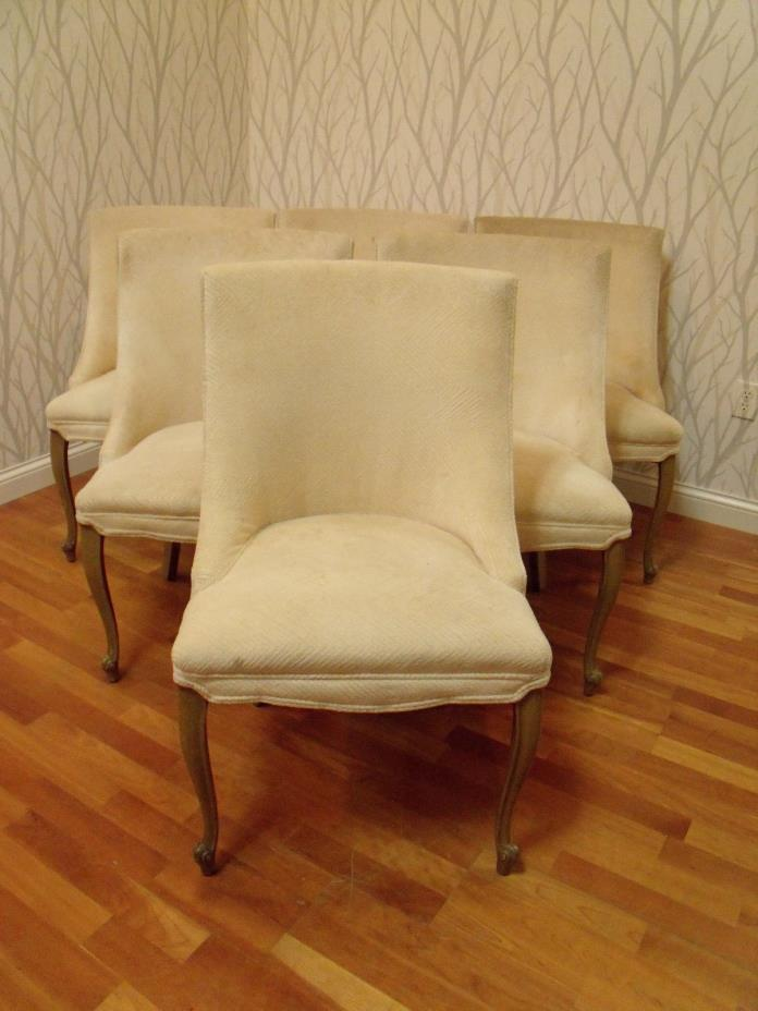 Set 6 Dining Chairs Hollywood Regency Glam 1950's Drexel ?