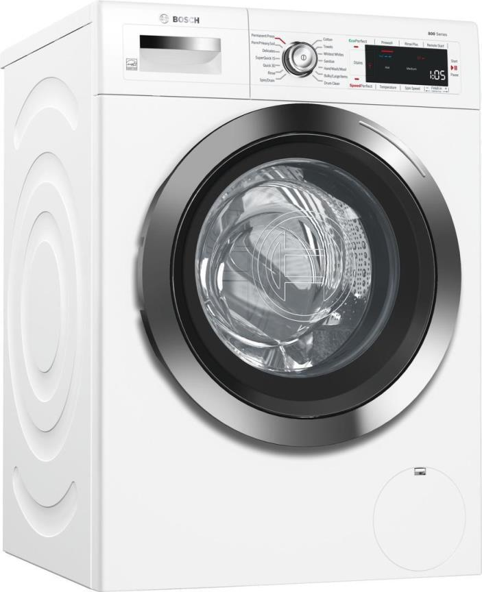 Bosch WTG865H2UC 800 Series 24 Inch Smart Electric Dryer in White