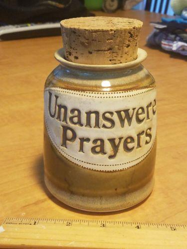 Unanswered Prayers Pottery Jug with Cork