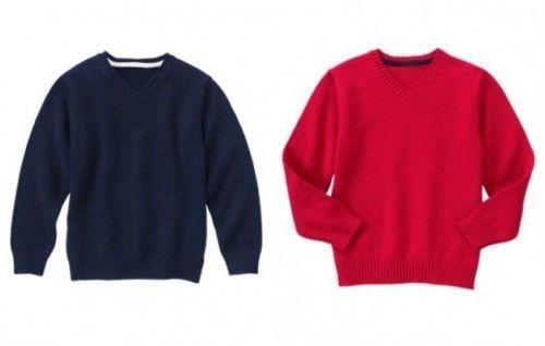 NWT Gymboree Uniform Shop Navy or Red Boy V-Neck Sweater Size 5-6 7-8
