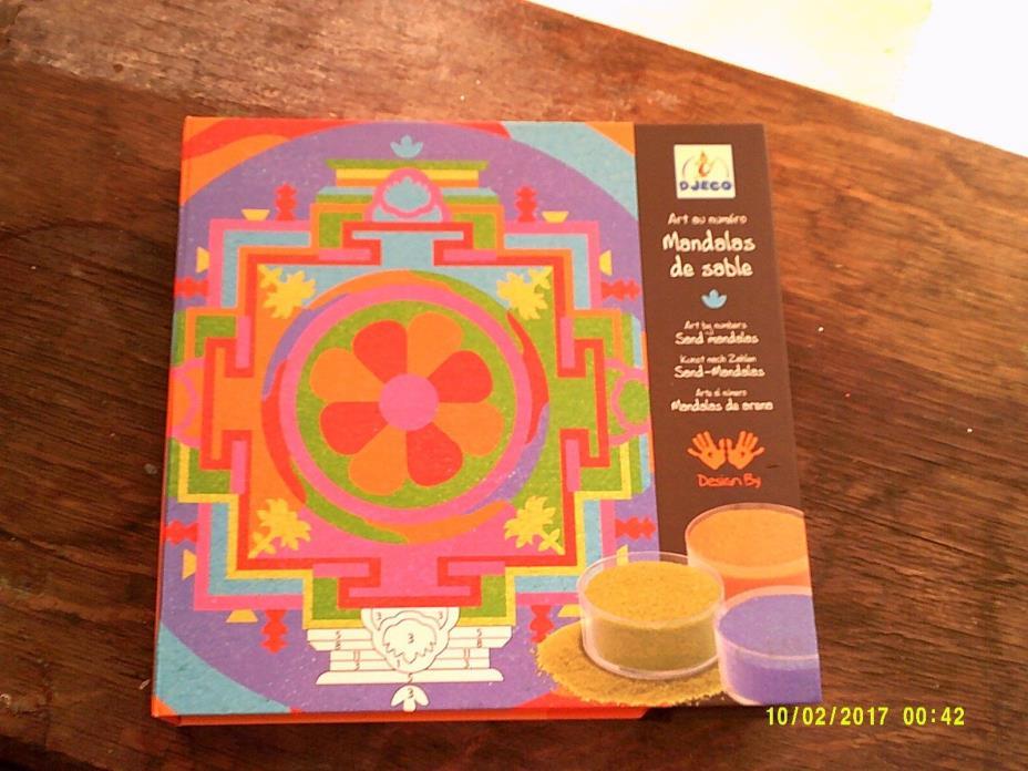 Djeco COLORED Sand Art Kit Tibetan Mandalas SET OF 4