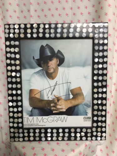 Tim McGraw Framed Autographed Picture