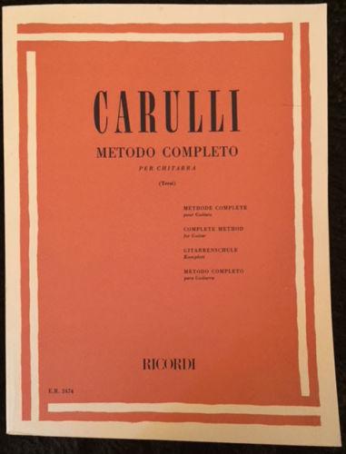 FERDINANDO CARULLI~ METODO COMPLETO PER CHITARRA ~ Complete Method guitar