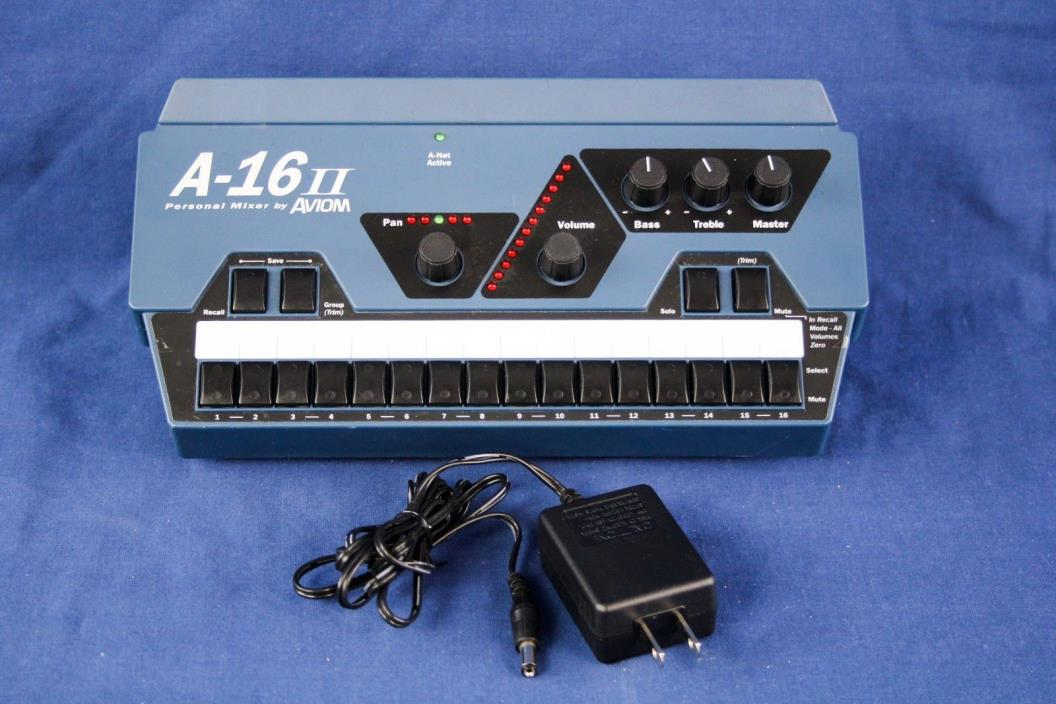 Aviom A-16II Personal Mixer Excellent condition with mount power supply