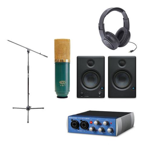 Presonus AudioBox USB w/Monitor Speaker, Microphone, Mic Stand & Headphone