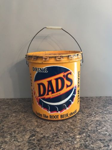 VINTAGE DADS ROOT BEER 5 GALLON SYRUP CAN 7UP COCA COLA RARE