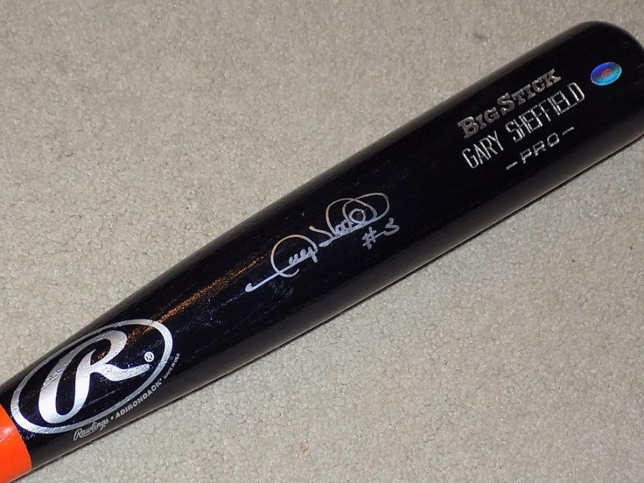 Gary Sheffield Signed Game Bat Tigers Yankees Mets Braves Marlins