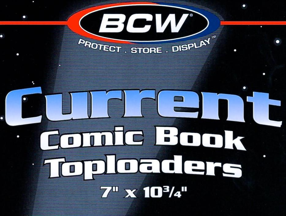 30 Current Comic Book Toploaders Crystal Clear Rigid Plastic Holder