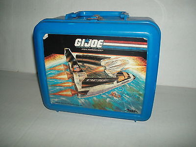 Vintage ALADDIN G.I. Joe Defiant School Lunch Box Thermos 1989 Space Shuttle gi