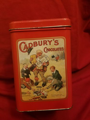Vintage Cadbury's Mounds Chocolate Tin 12 oz Tin