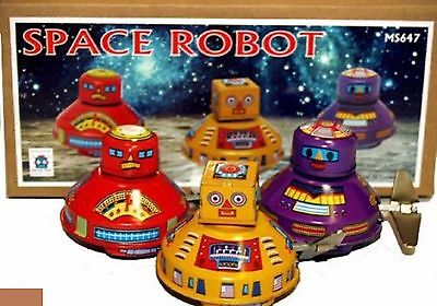 Tin Toy Space Robot - Set of Flying Saucers - 3-Pack - New in Box - MS647