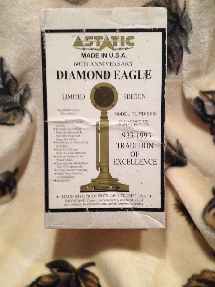 ASTATIC DIAMOND EAGLE MIC MICROPHONE FACTORY SEALED