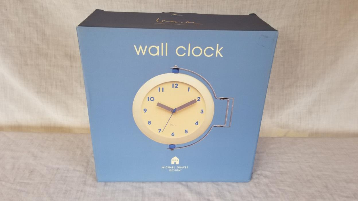 Michael Graves Double Sided Wall Clock Swivels and turns