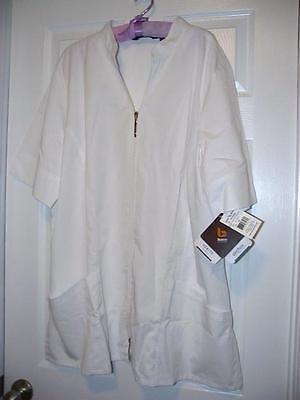Verite by Barco Lab Coat 5X Front Zip White Plus 5XL Arcflex SS New