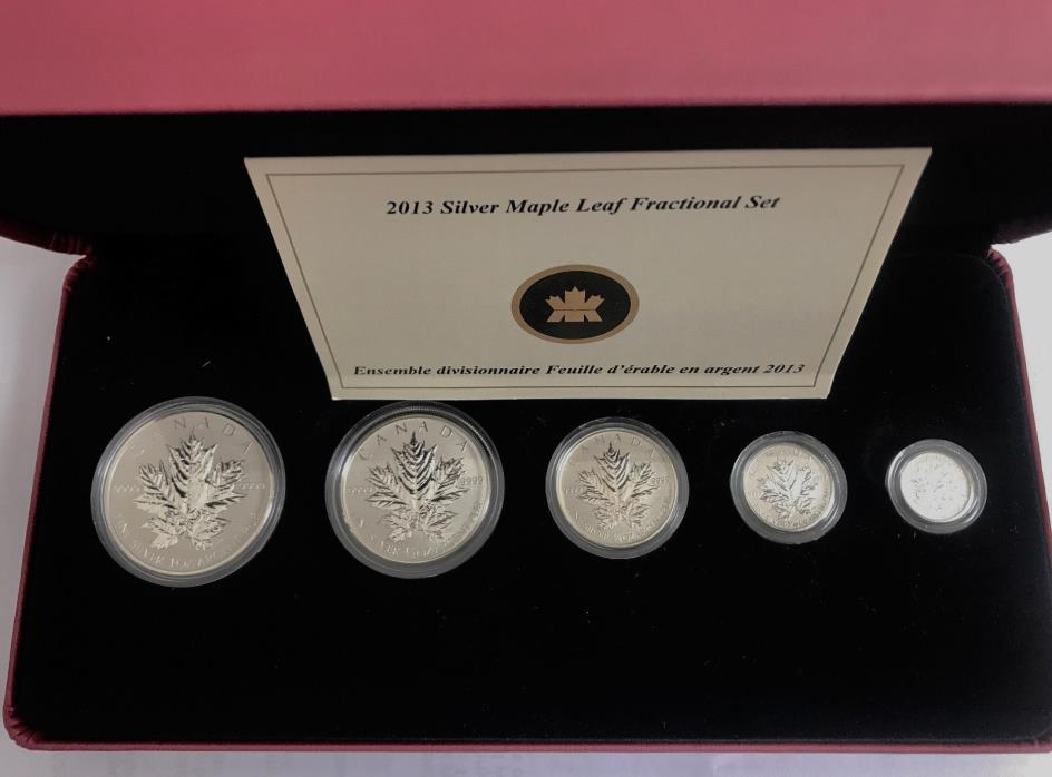 Canada 25th Anniversary of the Silver Maple Leaf  Set with Box & CoA