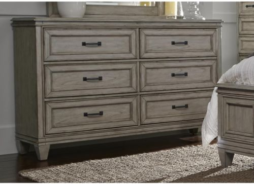 Grayton Grove Driftwood 6-Drawer Dresser