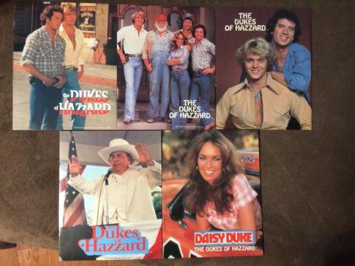 Dukes Of Hazzard Two Pocket Folders 1981 !