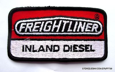 FREIGHTLINER EMBROIDERED SEW ON PATCH INLAND DIESEL TRUCK ADVERTISING 3 7/8 x 2