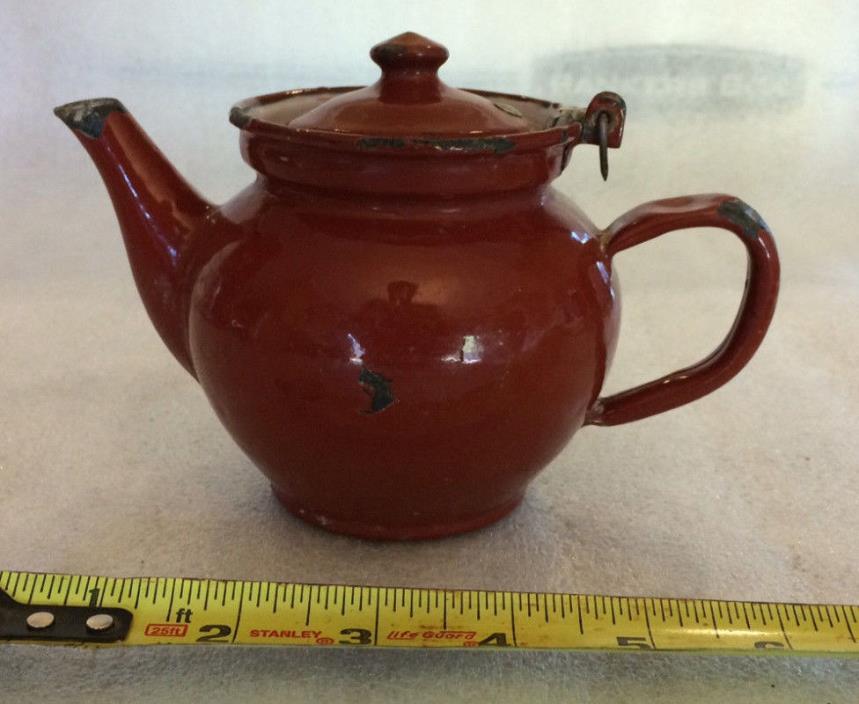 Vintage Czechoslovakia Enamelware Teapot