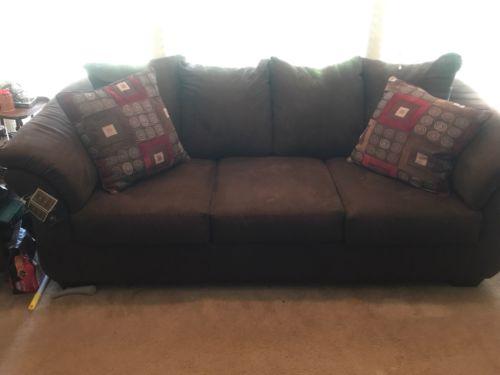 Ashley Microfiber Sofa, Reclining Rocker and Ottoman
