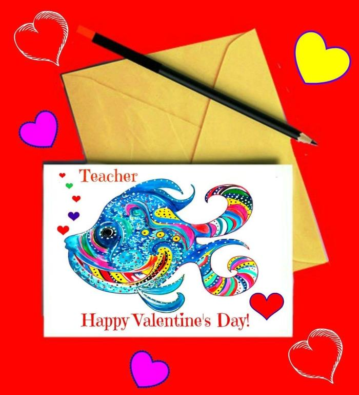The Painted Label Valentine Card
