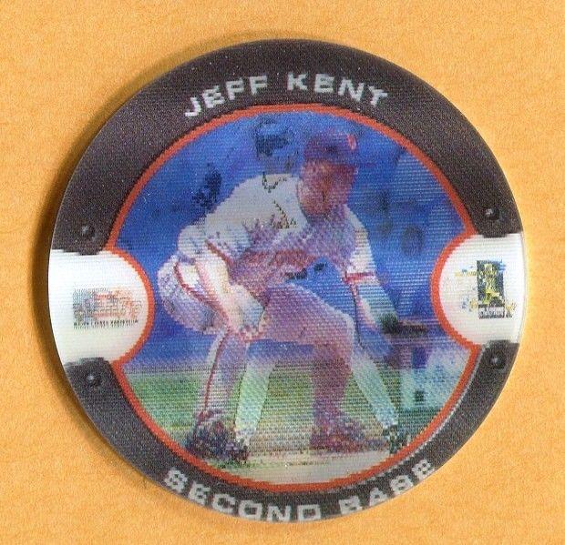 2000 7-11 SLURPEE COIN #26 JEFF KENT SAN FRANCISCO GIANTS