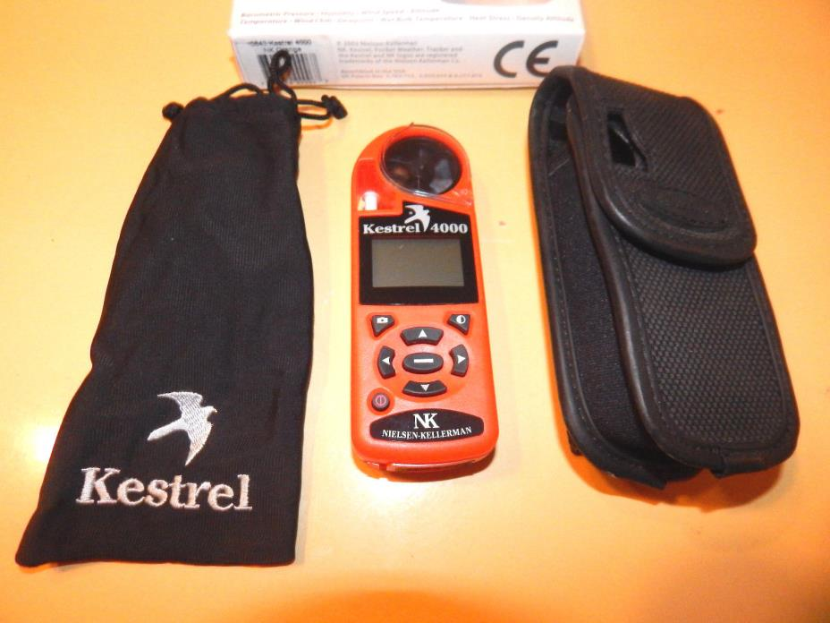 Kestrel 4000 Pocket Weather Tracker Box Case Bag Manuals