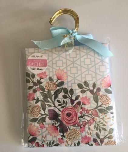 4 Pk Wild Rose Scented Sachet Scents Home Fragrance Drawer Wardrobe Decor