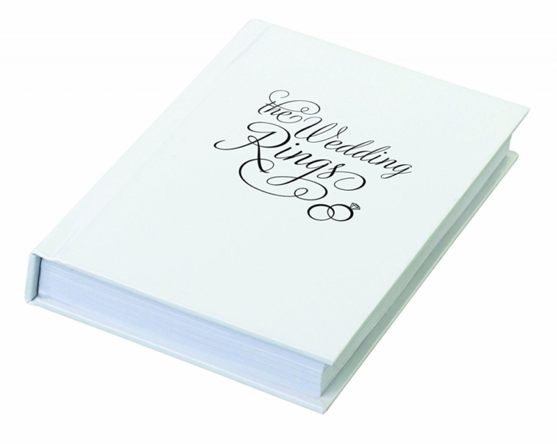 Lillian Rose Ring Pillow Alternative Book Box Wedding Rings