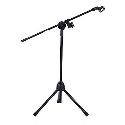 Ohuhu Microphone Stand Dual Mic Clip Collapsible Tripod Boom Stands Mounts Pro