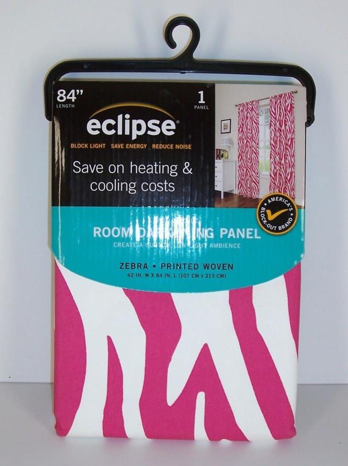 Eclipse Pink Zebra Stripe Room Darkening Curtain Panel 42 x 84