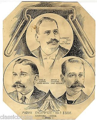 James Britton Original Illustration of Odd Fellows ULTRA RARE EARLY WORK