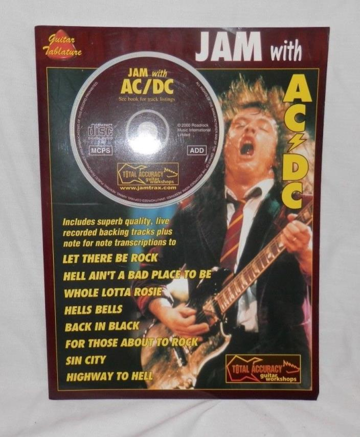 Jam with AC DC Sheet Music Book and CD