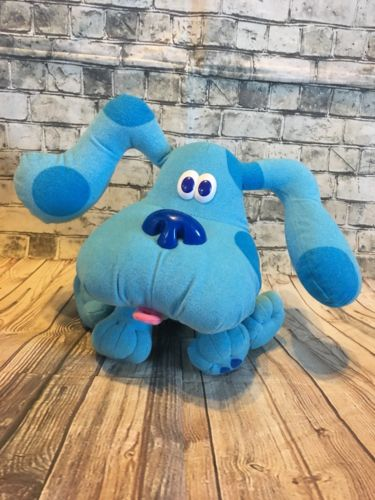 VTG Tyco 1997 Blue's Clues Plush Stuffed Dog Pose A Blue 7
